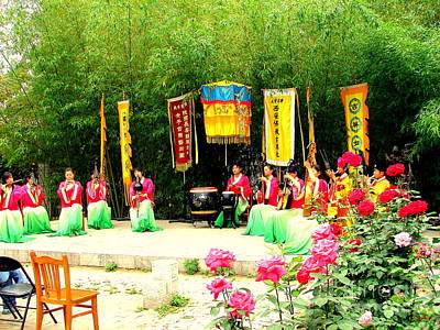 Photograph - Outdoor Concert China by John Potts