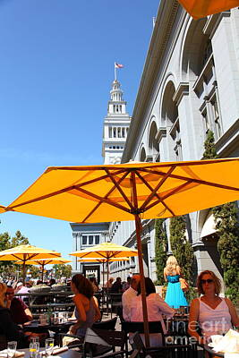 Outdoor Dining At The San Francisco Ferry Building 5d25377 Art Print by Wingsdomain Art and Photography