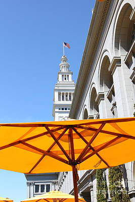 Outdoor Dining At The San Francisco Ferry Building 5d25378 Art Print by Wingsdomain Art and Photography