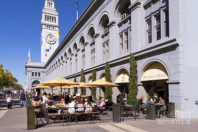 Photograph - Outdoor Dining At The San Francisco Ferry Building Dsc1775 by Wingsdomain Art and Photography