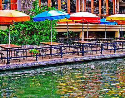 Riverwalk Photograph - Outdoor Dining by David and Carol Kelly