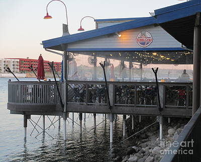 Photograph - Outdoor Dinning At Bubba Gump by Kay Novy