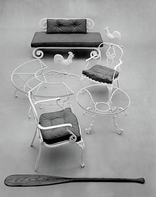 Deck Chair Photograph - Outdoor Furniture Made Out Of Cast Aluminum by Haanel Cassidy