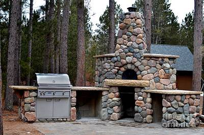 Outdoor Kitchens Art Print by The Stone Age