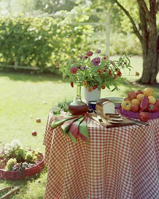 Outdoor Lunch In The Shade Of A Tree Art Print