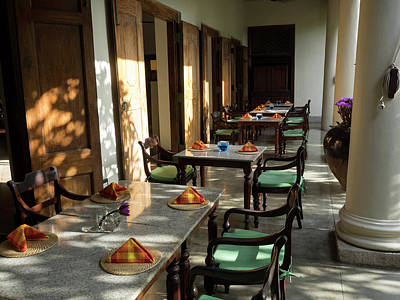 Outdoor Tables, Galle Fort Hotel Art Print