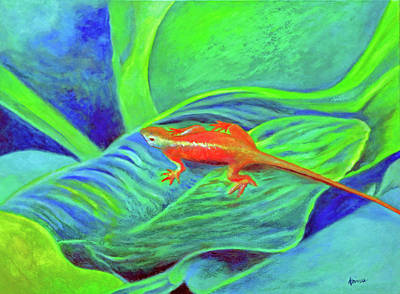 Painting - Outer Banks Gecko by Kandy Cross