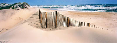 Beach Fence Photograph - Outer Banks, North Carolina, Usa by Panoramic Images