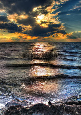 Outer Banks - Radical Sunset On Pamlico Art Print