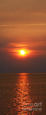 Art Print featuring the photograph Outer Banks Sunset by Tony Cooper