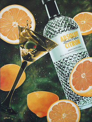 Martini Paintings - Outer Citron by Glenn Pollard