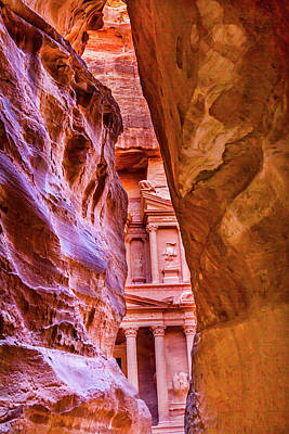 Outer Siq Rose Red Pink Treasury Art Print