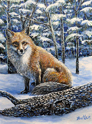 Painting - Outfoxed by Gail Butler