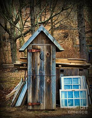 Old Wood Outhouse Photograph - Outhouse - 5 by Paul Ward