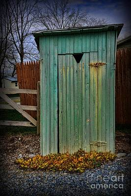 Old Wood Outhouse Photograph - Outhouse - 6 by Paul Ward