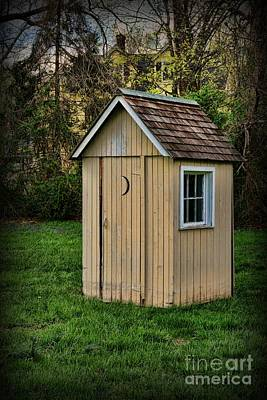 Old Wood Outhouse Photograph - Outhouse - 8 by Paul Ward