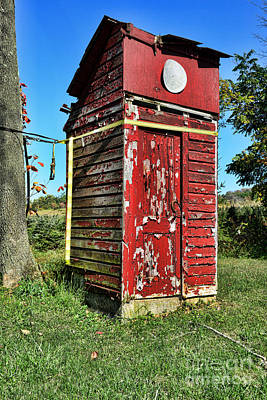 Old Wood Outhouse Photograph - Outhouse 9 by Paul Ward