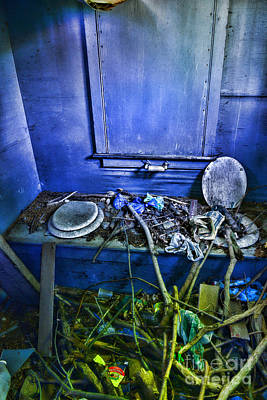 Old Wood Outhouse Photograph - Outhouse Abandoned In The Woods by Paul Ward