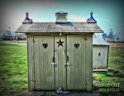 Old Wood Outhouse Photograph - Outhouse - His And Hers by Paul Ward