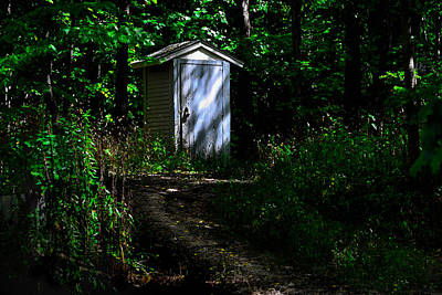 Photograph - Outhouse In Early Morning by Kathleen Stephens