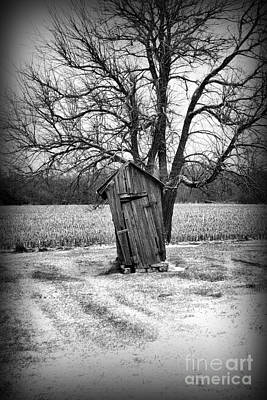 Old Wood Outhouse Photograph - Outhouse In The Snow by Paul Ward
