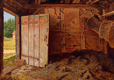 Net Painting - Outhouse Interior by Mountain Dreams
