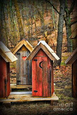 Old Wood Outhouse Photograph - Outhouse It's Your Pick by Paul Ward