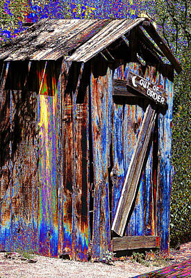 Outhouse Pop Art Art Print by Phyllis Denton