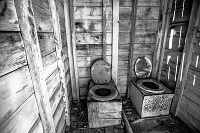 Art Print featuring the photograph Outhouse by Robert  Aycock