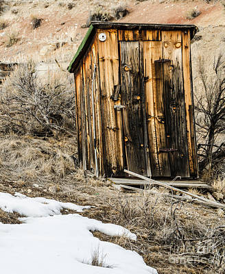 Outhouse With Electricity Art Print by Sue Smith