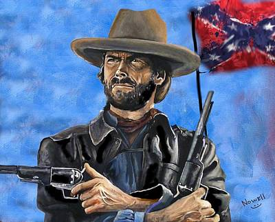 Clint Eastwood Art Painting - Outlaw Josey Wales - Clint Eastwood by Peter Nowell