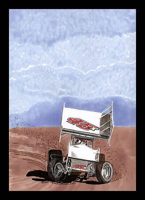 Outlaw Race Car Art Print by Jack Pumphrey