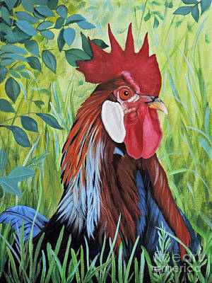 Outlaw Rooster Art Print by Jimmie Bartlett