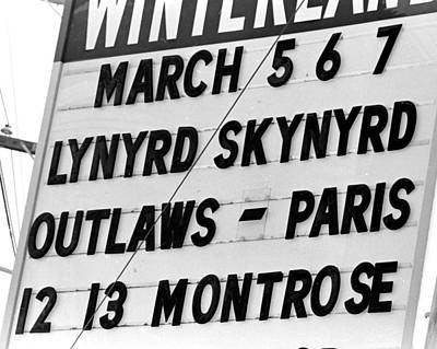 Photograph - Winterland Marquee 3-6-76 by Ben Upham