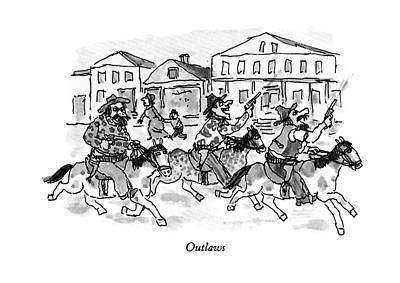 Montage Drawing - Outlaws by William Steig