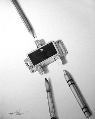 Drawing - Outlet by Anthony Johnson