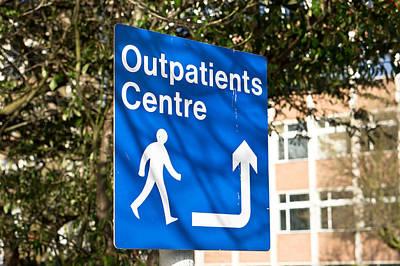 Outpatients Centre Art Print by Tom Gowanlock