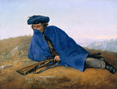 Georg Friedrich Kersting Painting - Outpost Duty by Georg Friedrich Kersting
