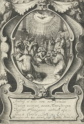 Holy Ghost Drawing - Outpouring Of The Holy Spirit, Zacharias Dolendo by Zacharias Dolendo And Robert De Baudous