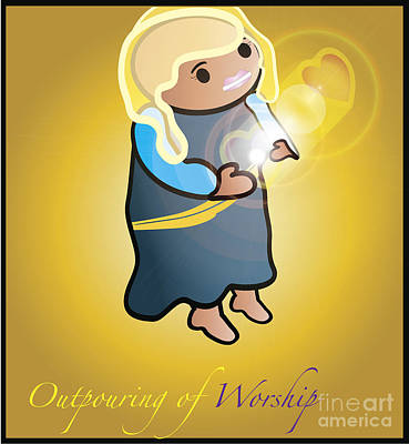 Digital Art - Outpouring Of Worship by Affini Woodley
