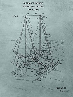 Outrigger Sailboat Patent Art Print