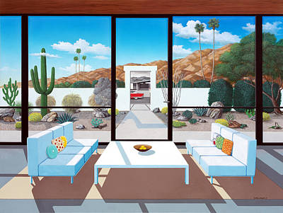 Mid Century Furniture Wall Art - Painting - Outside And Beyond by Snake Jagger