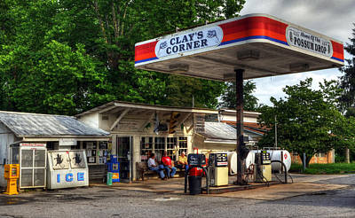 Clay County Photograph - Outside At Clays Corner by Greg and Chrystal Mimbs