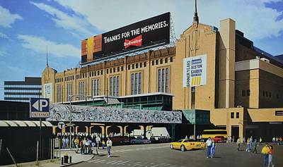 Outside Boston Garden Art Print by Thomas  Kolendra