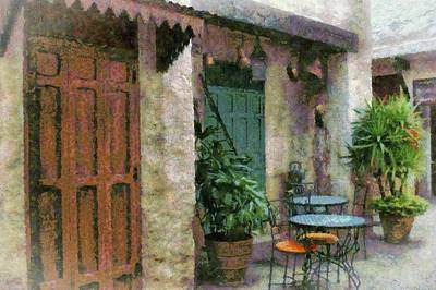 Outside Cafe Art Print by Kathy Jennings