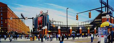 Outside Camden Yards Art Print by Thomas  Kolendra