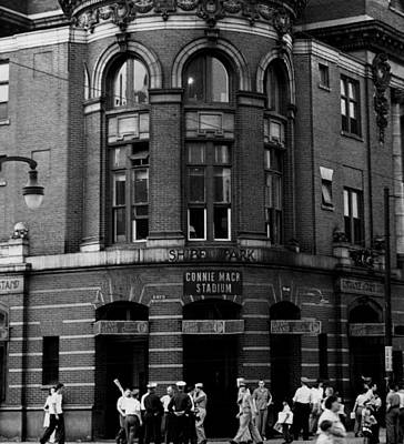 Shibe Park Photograph - Outside Connie Mack Stadium by Retro Images Archive