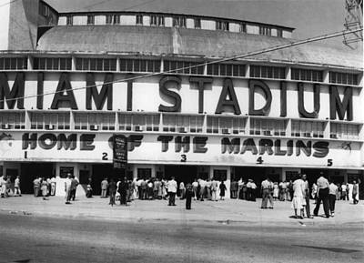 Outside Of Miami Stadium Art Print by Retro Images Archive
