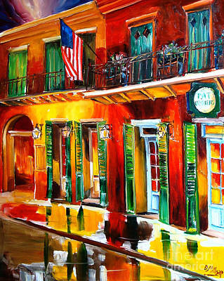 Pat O Briens Painting - Outside Pat O'brien's Bar by Diane Millsap
