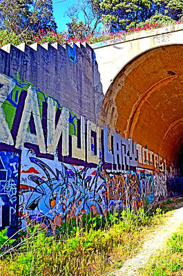 Photograph - Outside The Abandoned Train Tunnel South Of The Old Train Roundhouse At Bayshore Near San Francisco  by Jim Fitzpatrick